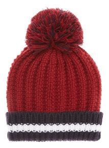 Red and Navy Knitted Hat (1-12 years)