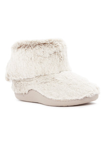 Grey Faux Fur Cupsole Boots