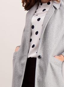 Grey Crombie Coat