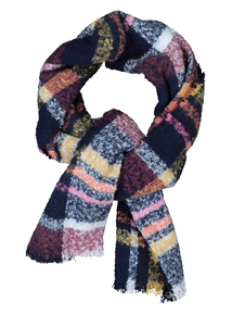 Boucle Woven Check Scarf