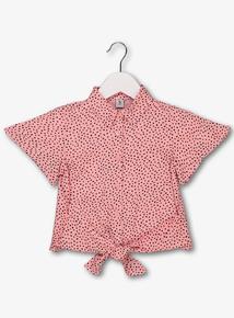 fbd1d5e8 Pink & Black Spot Tie Waist Shirt (3-14 Years)