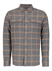 Grey Check Overshirt