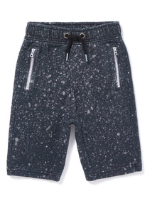 Grey Acid Wash Jersey Shorts (3-14 years)