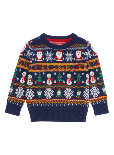 Christmas Jumpers.Sku Ph2 Christmas Ao Snowman Crew Neck Jumper Multi Coloure