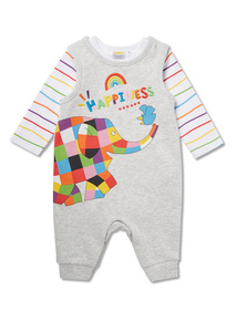 Grey Elmer Jersey Dungaree and Bodysuit Set (0-24 months)