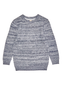 Blue and Cream Twisted Knit Jumper (3-14 years)