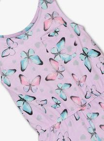 Purple Butterfly Playsuit