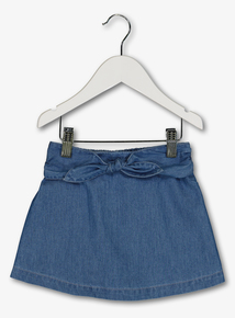 f31113de2 Blue Chambray Skort (9 months-6 years)