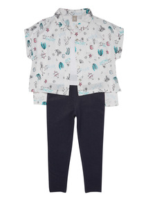 Multicoloured Mermaid Shirt And Leggings Set (3 - 12 years)