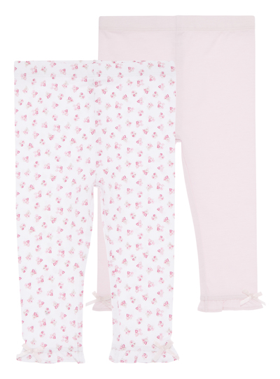 3834750fb1837 Baby Girls Pink Floral Leggings 2 Pack (0-24 months) | Tu clothing