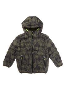 Khaki Camouflage Puffer Jacket (3-14 years)