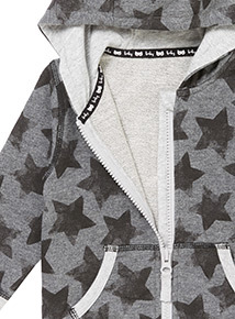 Grey Star Hoody (0-24 months)