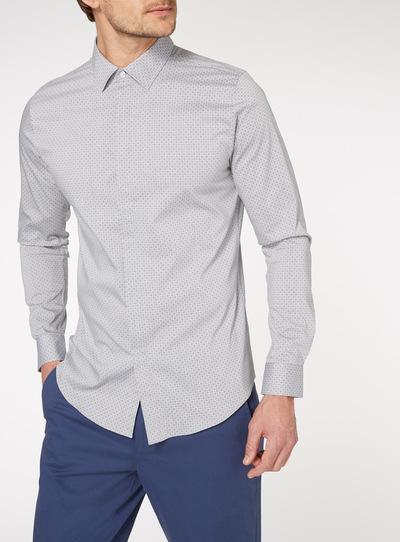 Grey Geo Stretch Shirt