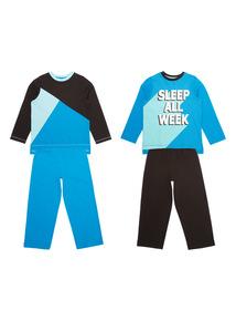 Multicoloured Sleep All Week Pyjama Set 2 Pack