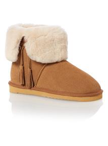 Tan Sheepskin Boot