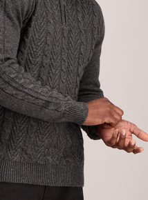 Charcoal Grey Cable Knit Jumper