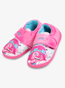 57d89ceb7040 Trolls Online Exclusive Pink Slippers (6 Infant -12)