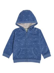 Blue Ocean Pattern Hoody (0-24 Months)