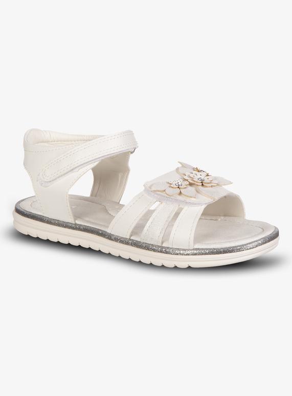 Kids White Flower Open Toe Sandals Infant 4 12 Tu Clothing