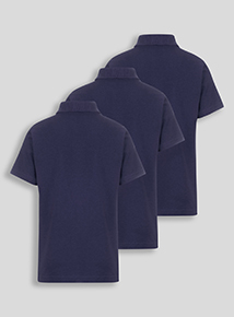 Unisex Navy Polo Shirts 3 Pack (3-12 years)