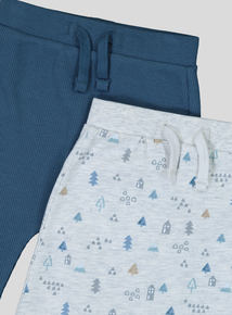 Grey & Blue Jogger 2 Pack (0-24 months)
