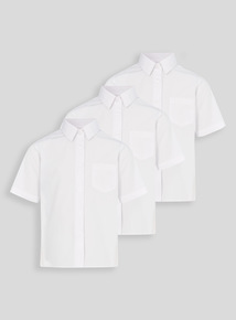 White Woven School Blouses 3 Pack (3 - 16 years)