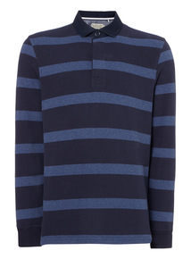 Blue Long Sleeve Rugby Top
