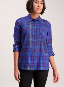 Online Exclusive Purple Check Shirt