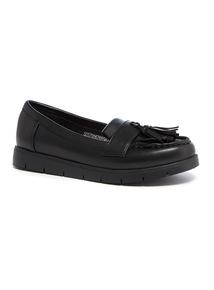 Black Chunky Loafer