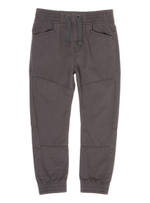 Boys Grey Pull on Trousers (3-12 Years)