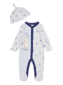 Grey Guess How Much I love You Sleepsuit with Hat (0-24 months)