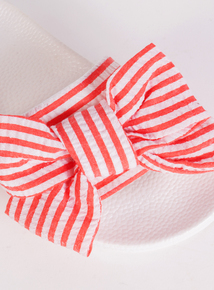 Online Exclusive Spot On Pink Bow Slider