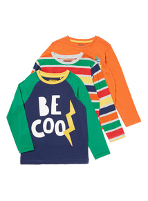 3 Pack Multicoloured Be Cool Tops (9 months-6 years)