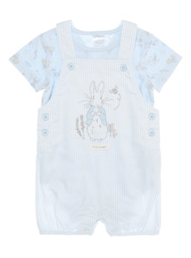 Boys Blue Peter Rabbit Dungarees And Bodysuit 2 Pack (0 - 12 months)