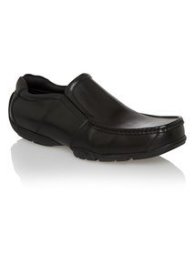 Black Slip On Leather Shoes