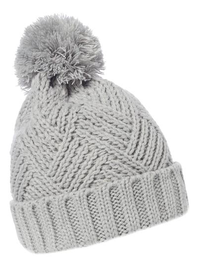Womens Grey Chunky Knit Hat  e33edcb3872