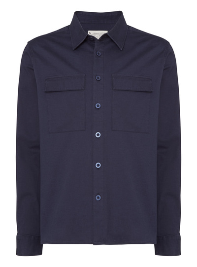 Navy Overshirt Jacket