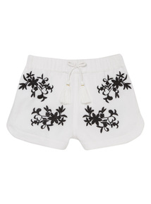 Black Embroidered Shorts (3 - 14 years)