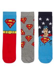 Blue Superman Socks 3 Pack