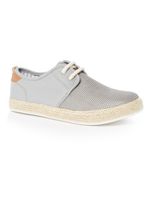 Lace Up Espadrille Trainers