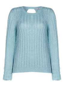 Light Green Keyhole Detail Jumper