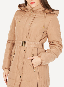 DAVID BARRY Gold 7/8 Fully Quilted Coat