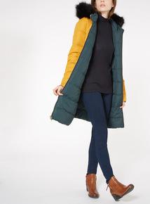 Reversible Long Puffa Coat