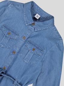 Blue Denim Look Shirt Dress (3- 14 years)