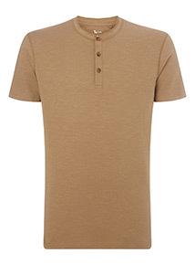 Khaki Grandad T-Shirt
