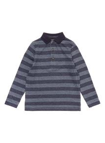 Blue Stripe Polo (3-14 years)