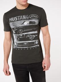 Black 'Ford Mustang' T-Shirt