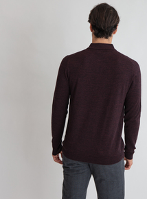 Premium Merlot Red Merino Wool Jumper