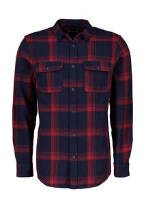 Navy & Red Check Regular Fit Overshirt