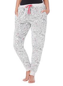 Grey Panda Print Pyjama Bottoms